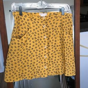 UO Sunshine Floral Skirt